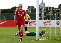 Millie Farrow of Bristol City Women celebrates scoring the opening goal against Oxford United Women - Mandatory by-line: Robbie Stephenson/JMP - 25/06/2016 - FOOTBALL - Stoke Gifford Stadium - Bristol, England - Bristol City Women v Oxford United Women - FA Women's Super League 2