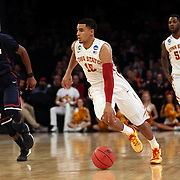 Naz Long, Iowa, in action during the Iowa State Cyclones Vs Connecticut Huskies basketball game during the 2014 NCAA Division 1 Men's Basketball Championship, East Regional at Madison Square Garden, New York, USA. 28th March 2014. Photo Tim Clayton