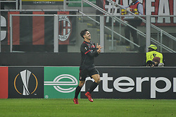 November 23, 2017 - Milan, Italy - André Silva fo AC Milan celebrate the second score for AC Milan during uefa Europa League AC Milan vs FK Austria Wien at San Siro Stadium (Credit Image: © Gaetano Piazzolla/Pacific Press via ZUMA Wire)