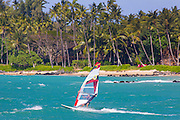 Windsurfing, Kanaha Beach Park, Kahului,  Maui,Hawaii