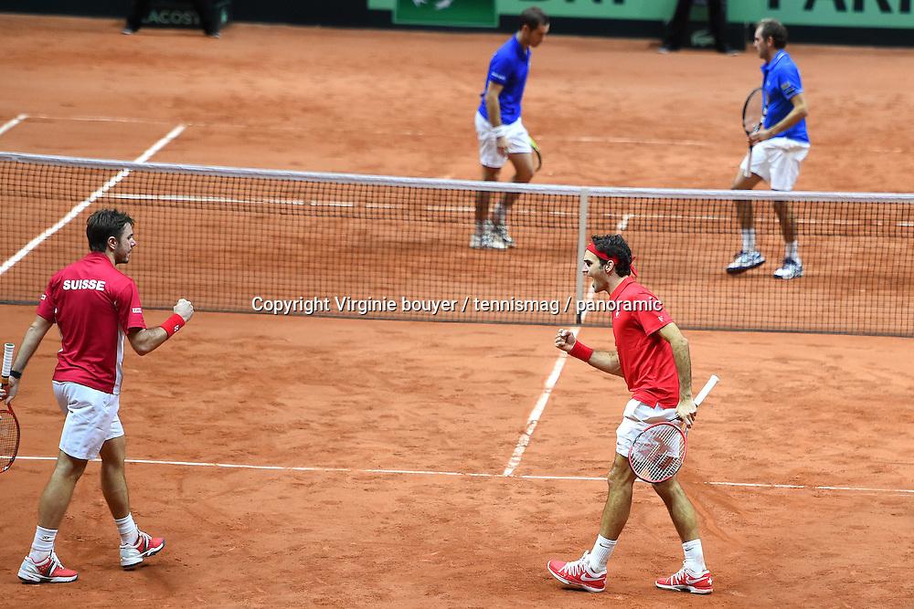 Roger Federer (SUI)<br /> Stan Wawrinka (SUI) <br /> Julien Benneteau (FRA)<br /> Richard Gasquet (FRA)