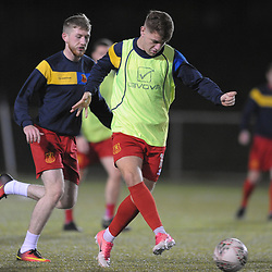 TELFORD COPYRIGHT MIKE SHERIDAN Jack Thorn of Newtown(on loan from Wrexham)  during the Cymru Premier fixture between Cefn Druids and Newtown AFC at the Rock on Friday, October 11, 2019<br /> <br /> Picture credit: Mike Sheridan/Ultrapress<br /> <br /> MS201920-024