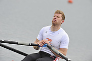 Eton, United Kingdom  GBR M1X. Matt WELLS, at the start of his heat of the men's  single sculls at the 2012 GB Rowing Senior Trials, Dorney Lake. Nr Windsor, Berks.  Saturday  10/03/2012  [Mandatory Credit; Peter Spurrier/Intersport-images]