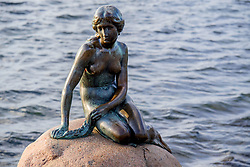Facebook censures 'nude' statue Small Mermaid. The Edward Eriksen's world-famous Danish Little Mermaid statue can not be traced by Facebook. The image would be too nude and offensive. Copenhagen's most photographed woman is bronze and has been on a rock in the harbor since 1913. It is the image of the Little Mermaid from Hans Christian Andersen's famous fairy tale. But more than a hundred years later, Facebook labeled the classic image as offensive. Picture taken on August 15, 2017 in Copenhagen, Denmark. Photo by Robin Utrecht/ABACAPRESS.COM