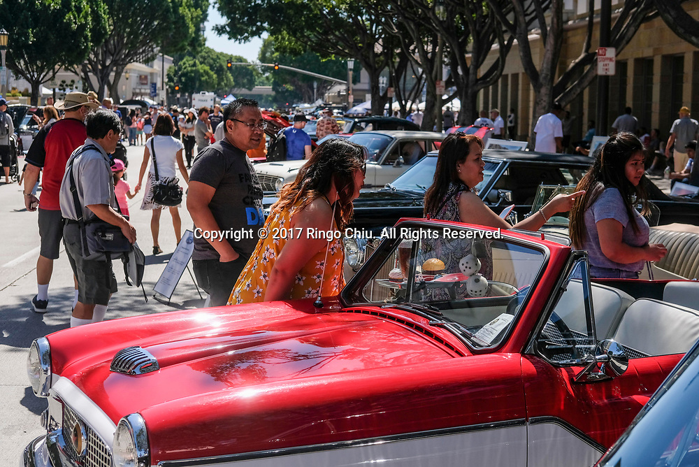 Pasadena Police 16th Annual Father&rsquo;s Day Car Show  in Pasadena, California, June 18, 2017. (Photo by Ringo Chiu)<br /> <br /> Usage Notes: This content is intended for editorial use only. For other uses, additional clearances may be required.