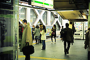 Shinjuku station is the busiest train station in Tokyo and is surrounded by extensive shopping arcades.