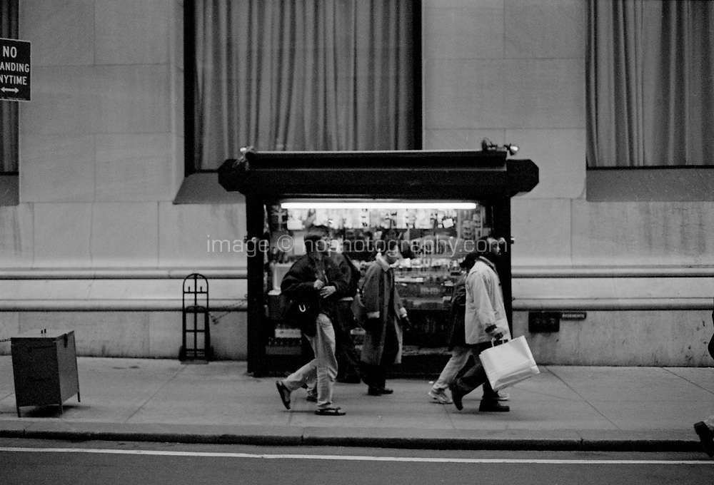 News stand Lower Manhattan New York circa 2000