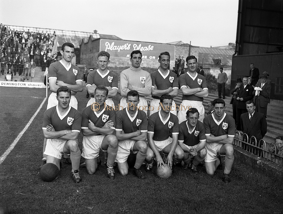 02/09/1959<br /> 09/02/1959<br /> 02 September 1959<br /> Soccer: League of Ireland v Scottish League at Dalymount Park, Dublin. The Irish League team.