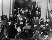 [TITANIC disaster. Senate Investigating Committee questioning individuals at the Waldorf Astoria] Date Created/Published: c1912 May 29. Medium: 1 photographic print.