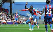 Jason Puncheon tries his luck from distance during the Barclays Premier League match between Crystal Palace and Manchester City at Selhurst Park, London, England on 12 September 2015. Photo by Michael Hulf.