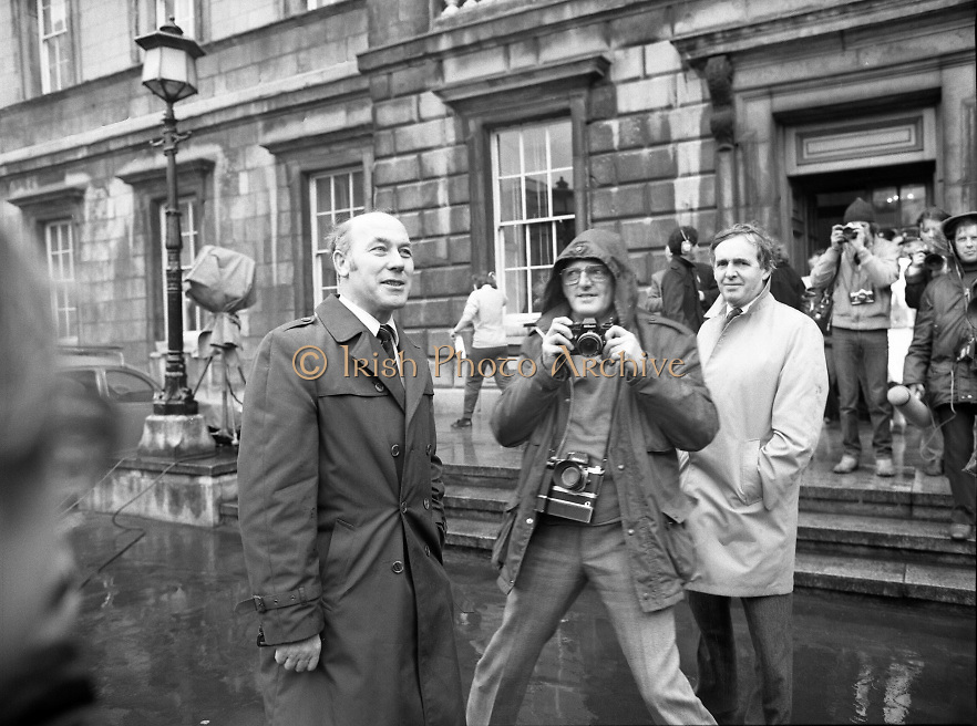 TDs arrive for the opening session of the 23rd Dáil...9-03-82.03-09-1982.9th March 1982..Pictured At Leinster House. ..Dún Laoghaire Fianna Fáil TD Martin O'Donoghue