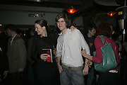Plum Sykes and  Josh Sykes ,  Book launch for ' What Did I Do last night' by Tom Sykes. Century Club. Shaftesbury Ave. London. 16 January 2006. -DO NOT ARCHIVE-© Copyright Photograph by Dafydd Jones. 248 Clapham Rd. London SW9 0PZ. Tel 0207 820 0771. www.dafjones.com.