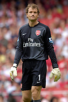 Photo: Daniel Hambury.<br />Arsenal v Aston Villa. The Barclays Premiership. 19/08/2006.<br />Arsenal's Jens Lehmann.