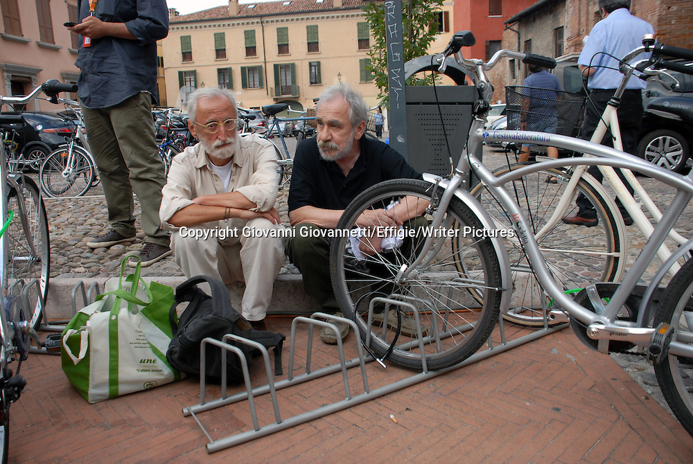 Antonio Moresco &amp; Ivano Ferrari, Festivaletteratura, Mantova <br /> 08 September 2013<br /> <br /> Photograph by Giovanni Giovannetti/Effigie/Writer Pictures <br /> <br /> NO ITALY, NO AGENCY SALES