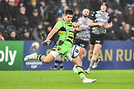 Northampton Saints' Piers Francis in action during todays match<br /> <br /> Photographer Craig Thomas/Replay Images<br /> <br /> EPCR Champions Cup Round 4 - Ospreys v Northampton Saints - Sunday 17th December 2017 - Parc y Scarlets - Llanelli<br /> <br /> World Copyright &copy; 2017 Replay Images. All rights reserved. info@replayimages.co.uk - www.replayimages.co.uk