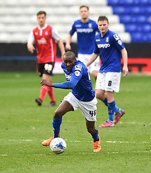 Birmingham City's Lloyd Dyer in action during the Sky Bet Championship match between Birmingham City and Rotherham United at St Andrew's Stadium on 3 April 2015 in Birmingham, England - Photo mandatory by-line: Paul Knight/JMP - Mobile: 07966 386802 - 03/04/2015 - SPORT - Football - Birmingham - St Andrew's Stadium - Birmingham City v Rotherham United - Sky Bet Championship