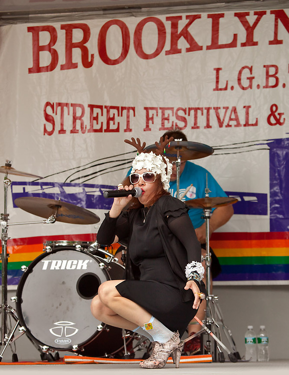 Performer at the Brooklyn Gay Pride event.