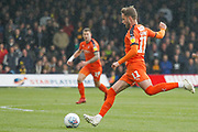 Luton Town midfielder Andrew Shinnie (11) passes during the EFL Sky Bet League 1 match between Luton Town and Oxford United at Kenilworth Road, Luton, England on 4 May 2019.