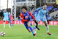 Football - 2016 / 2017 FA Cup - Fourth Round: Crystal Palace vs. Manchester City<br /> <br /> Loic Remy of Crystal Palace and Fernando Reges of Man City at Selhurst Park.<br /> <br /> COLORSPORT/ANDREW COWIE