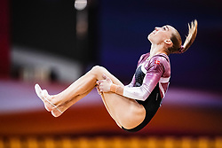 October 28, 2018 - Doha, Quatar - Mette Hulgaard of  Denmark   during  Floor qualification at the Aspire Dome in Doha, Qatar, Artistic FIG Gymnastics World Championships on 28 of October 2018. (Credit Image: © Ulrik Pedersen/NurPhoto via ZUMA Press)