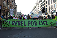 Extinction Rebellion block Waterloo Bridge, London, 15 April 2019