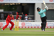 Sarah Taylor (Wicket Keeper) of the Surrey Stars bowled during the Women's Cricket Super League match between Lancashire Thunder and Surrey Stars at the Emirates, Old Trafford, Manchester, United Kingdom on 7 August 2018.