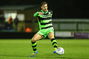 Forest Green Rovers Scott Laird(3) on the ball during the EFL Sky Bet League 2 match between Forest Green Rovers and Lincoln City at the New Lawn, Forest Green, United Kingdom on 12 September 2017. Photo by Shane Healey.