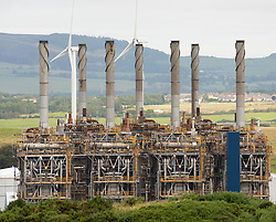 View Mossmorran NGL ethylene plant on 18th September 2019 in Fife, Scotland, UK. The plant is jointly operated by ExxonMobil and Shell UK. Public have raised concerns about the amount of flaring and associated noise and vibrations and ExxonMobil have announced a new project to mitigate future flaring