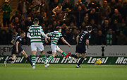 31st October 2018, Kilmac Stadium, Dundee, Scotland; Ladbrokes Premiership football, Dundee v Celtic; Ryan Christie of Celtic scores for 5-0 in the 47th minute