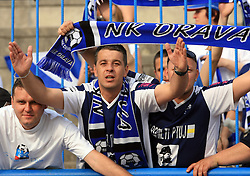 Fans of Drava celebrate at 33rd Round of PrvaLiga Telekom Slovenije 2008/2009 league match between NK Luka Koper and NK Labod Drava Ptuj, on May 9, 2009, in SRC Bonifika, Koper, Slovenia. Drava won 2:1. (Photo by Vid Ponikvar / Sportida)