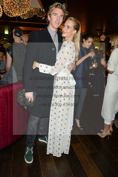 JAMES COOKE and POPPY DELEVINGNE at the Launch Of Osman Yousefzada's 'The Collective' 4th edition with special guest collaborator Poppy Delevingne held in the Rumpus Room at The Mondrian Hotel, 19 Upper Ground, London SE1 on 24th November 2014, sponsored by Storm models and Beluga vodka.