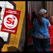 DAILY VENEZUELA II / VENEZUELA COTIDIANA II<br /> Photography by Aaron Sosa <br /> <br /> Left:  Political campaign of Chavismo, Caracas - Venezuela 2009 / Campaña politica del Chavismo, Caracas - Venezuela 2009<br /> <br /> Right: Bolivarian Barberie, Caracas - Venezuela 2007 / Barberia Bolivariana, Caracas - Venezuela 2009<br /> <br /> (Copyright © Aaron Sosa)