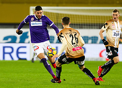 10.02.2018, Ernst Happel Stadion, Wien, AUT, 1. FBL, FK Austria Wien vs Lask, 22. Runde, im Bild Patrizio Stronati (FK Austria Wien), Reinhold Ranftl (LASK) // during Austrian Football Bundesliga Match, 22nd Round, between FK Austria Vienna and Lask at the Ernst Happel Stadion, Vienna, Austria on 2018/02/10. EXPA Pictures © 2018, PhotoCredit: EXPA/ Alexander Forst