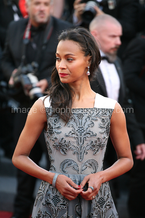 Actress Zoé Saldana.at the Blood Ties film gala screening at the Cannes Film Festival Monday 20th May 2013