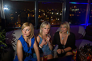 FELICITY IVE, KATIE BYRNE AND FLEUR PATEFIELD, Beyond the Rave, Celebration of Hammer Film's  first horror movie broadcasr on MYSpace. Shoreditch House. London. 16 April 2008.  *** Local Caption *** -DO NOT ARCHIVE-© Copyright Photograph by Dafydd Jones. 248 Clapham Rd. London SW9 0PZ. Tel 0207 820 0771. www.dafjones.com.