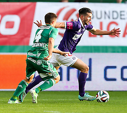 09.11.2014, Ernst Happel Stadion, Wien, AUT, 1. FBL, SK Rapid Wien vs FK Austria Wien, 15. Runde, im Bild Thomas Schrammel (SK Rapid Wien)u nd Alexander Gorgon (FK Austria Wien) // during a Austrian Football Bundesliga Match, 15th Round, between SK Rapid Vienna and FK Austria Vienna at the Ernst Happel Stadion, Wien, Austria on 2014/11/09. EXPA Pictures © 2014, PhotoCredit: EXPA/ Alexander Forst