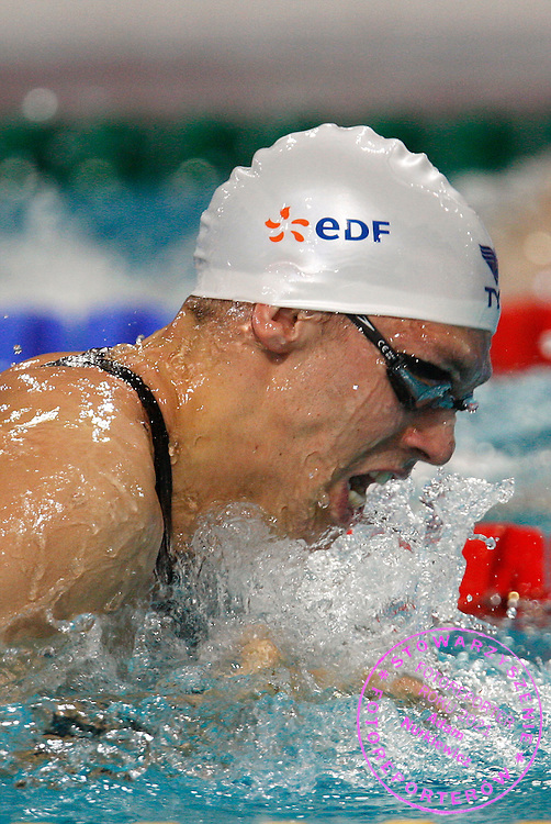 22/03/2008.EINDHOVEN 2008.LEN EUROPEAN SWIMMING CHAMPIONSHIPS.MEN'S 50m BREASTSTROKE.QUALIFICATION ROUND.HUGUES DUBOSCQ OF FRANCE ..FOT. PIOTR HAWALEJ / WROFOTO