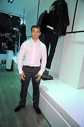 French rugby player Thomas Castaignède at a party hosted by Kate Sumner at Zadig & Voltaire to celebrate the brand's arrival in London at 182 Westbourne Grove, London W11 on 14th October 2008.