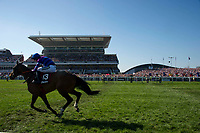 National Hunt Horse Racing - 2017 Randox Grand National Festival - Saturday, Day Three [Grand National Day]<br /> <br /> View of Princess Royal Stand as Ray Kennedy on Rightdownthemiddle races past in foregroundn the 4th race the 3.40 theBetway Handicap Chase  at Aintree Racecourse.<br /> <br /> COLORSPORT/WINSTON BYNORTH