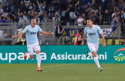May 20, 2018 - Rome, Italy - Adam Marusic celebrates after scoring a goal 1-0 during the Italian Serie A football match between S.S. Lazio and F.C. Inter at the Olympic Stadium in Rome, on may 20, 2018. (Credit Image: © Silvia Lore/NurPhoto via ZUMA Press)