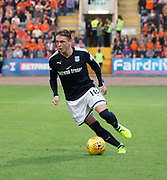August 9th 2017, Dens Park, Dundee, Scotland; Scottish League Cup Second Round; Dundee versus Dundee United; Dundee's Scott Allan