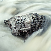 Rock formation, River Orchy, Scotland.