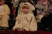"""Rockefeller Chapel held """"A Service of Nine Lessons and Carols for Christmas Eve"""" Tuesday evening.<br /> <br /> Two and a half year old Kira Sophie Spos as a nativity lamb."""
