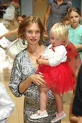 NATALIA VODIANOVA and her daughter NEVA PORTMAN at a children's ballet workshop and tea party to celebrate the world premiere of 'Angelina's Star Performance' Angelina Ballerina's first real life ballet hosted by the National Ballet at the New Wimbledon Theatre, London SW19 on 6th September 2007.<br />