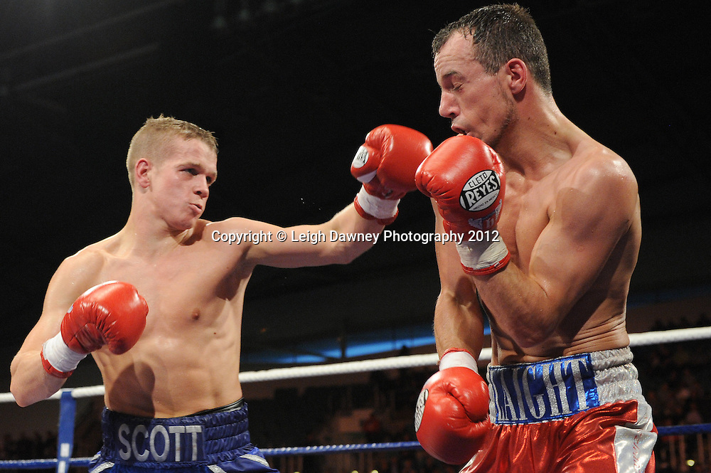 Scott Jenkins defeats Kristian Laight in a Lightweight contest at the Velodrome, Manchester on the 16.06.12. Hatton Promotions. ©Leigh Dawney Photography 2012.