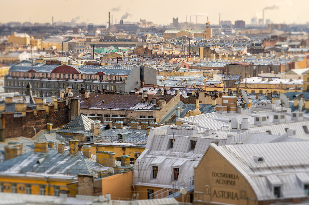 Aerial view of Saint Petersburg from Saint Isaac's Cathedral
