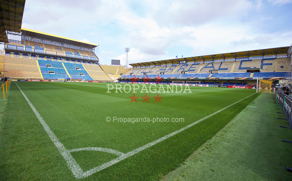 VILLRREAL, SPAIN - Wednesday, April 27, 2016: An general view of Villarreal CF's Estadio El Madrigal ahead of the UEFA Europa League Semi-Final 1st Leg match against Liverpool. (Pic by David Rawcliffe/Propaganda)