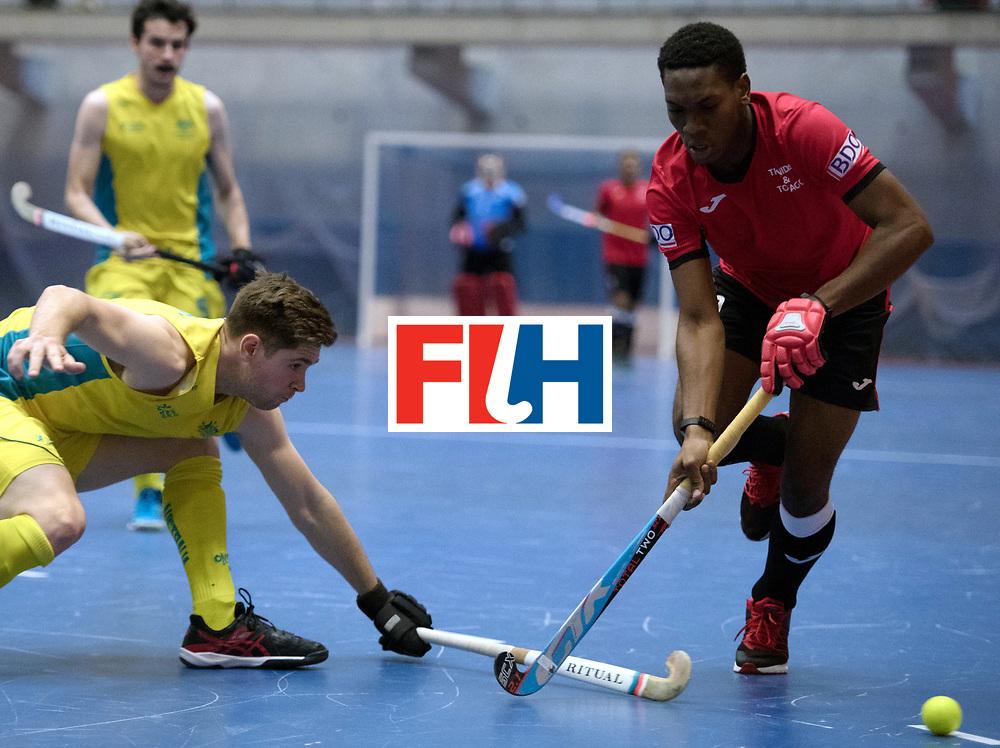 BERLIN - Indoor Hockey World Cup<br /> Trinidad &amp; Tobago - Australia<br /> foto: Kristien Emmanuel <br /> WORLDSPORTPICS COPYRIGHT FRANK UIJLENBROEK