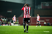 Brentford (7) Florian Jozefzoon  after the EFL Sky Bet Championship match between Brentford and Derby County at Griffin Park, London, England on 26 September 2017. Photo by Sebastian Frej.