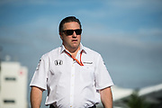 October 19-22, 2017: United States Grand Prix. Zak Brown, executive chairman of Mclaren Honda F1 team
